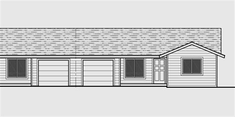 duplex with garage plans one level duplex house plans corner lot duplex plans