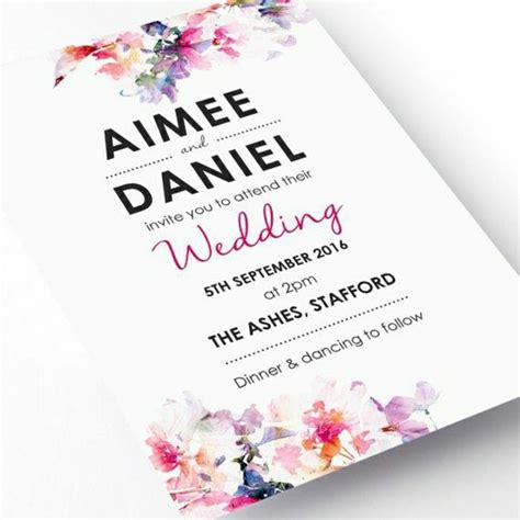 Floral Wedding Invitations by Comment Choisir Une Originale Carte D Invitation Mariage