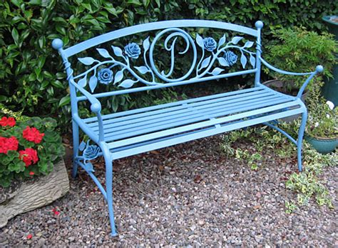 wrought iron garden bench seat public seating and park benches