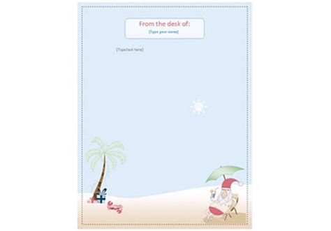 summer stationery printable bindlegrim holiday artist and author free summer santa