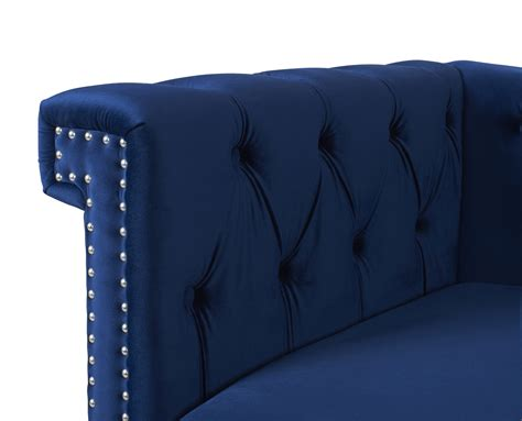 chesterfield sofa blue fabric wooden chesterfield sofa navy blue