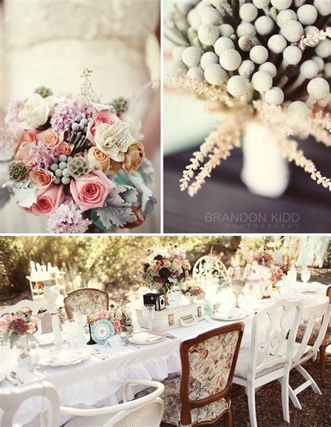 Vintage Wedding Table Decor by More Vintage Wedding Inspiration Green Wedding