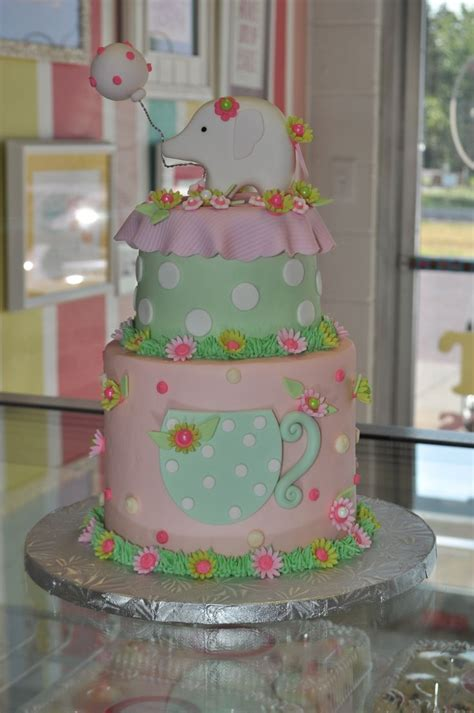 Girly Baby Shower Cakes by 222 Best Images About Elephant Cakes On