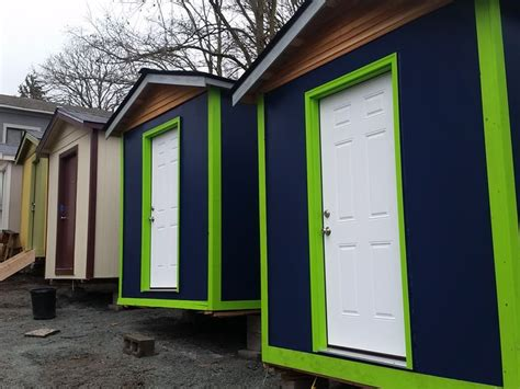 tiny house seattle kgw com tiny house village for homeless taking shape in seattle