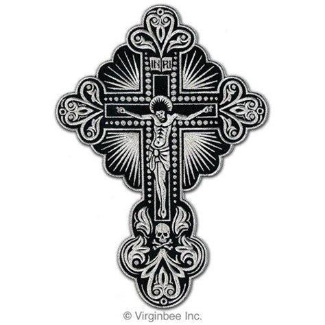 christian biker tattoo designs 14 95 huge crucifix lord jesus christ silver cross skull