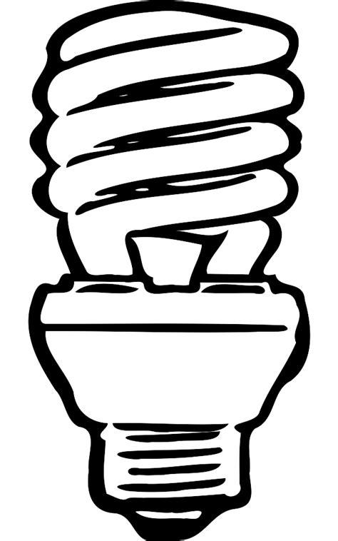 Light Bulb Outline Clip by Fluorescent Light Bulbs Clipart 38