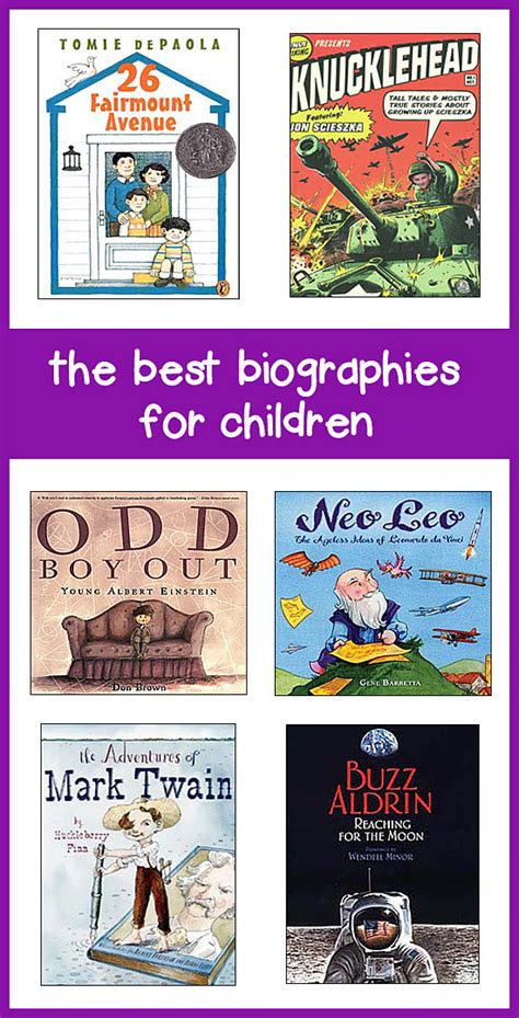 biography books best best biographies for kids in grades 1 8