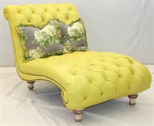 Yellow Chaise Lounge Fly By Tufted Yellow Chaise