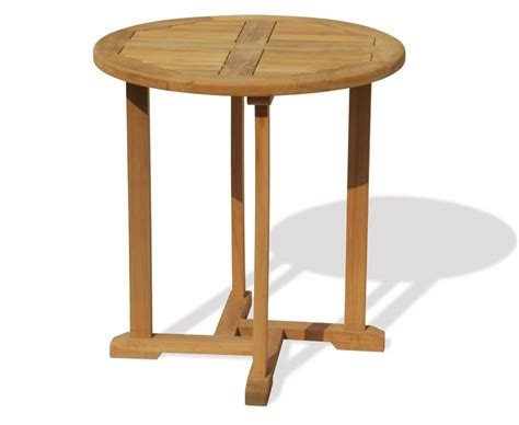 Teak Bistro Table Canfield Bistro Style Teak Outdoor Table 70cm Teak