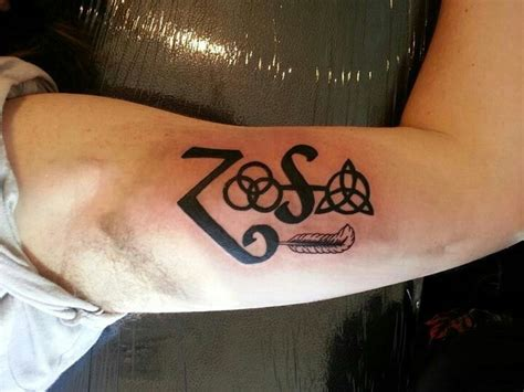 my led zeppelin symbols tattoo beautiful ink pinterest