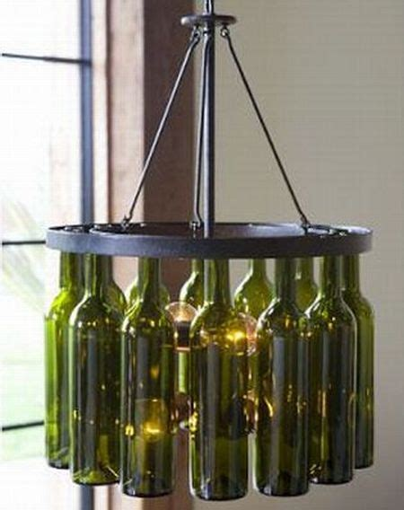 Recycled Wine Bottle Chandelier Recycled Home Decor Modern Diy Designs