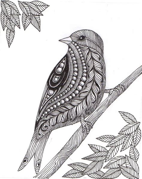 Pattern Drawing Bird | zentangle birds google search zentangle pinterest