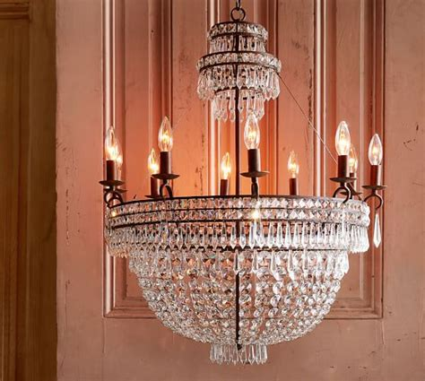 pottery barn lighting chandeliers ella chandelier pottery barn