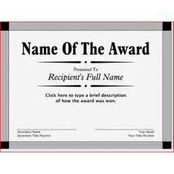 Free Printable Blank Award Certificate Templates by Free Printable Award Certificates 10 Great Options For A