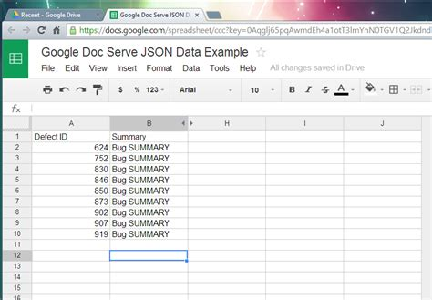 How To Use Docs Spreadsheets by How To Use Doc Serve Json From Excel Spreadsheet