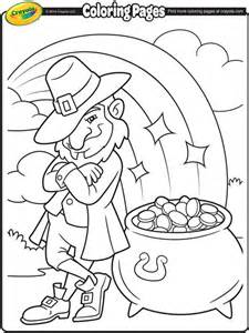 Leprechauns Pot Of Gold Coloring Page  Crayolacom sketch template
