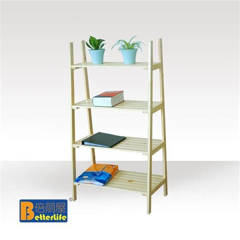 5 shelf ladder bookcase ikea style four story wood shelf ladder rack kitchen