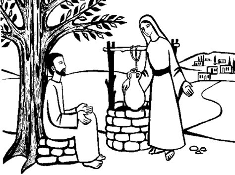 jesus and the samaritan at the well coloring pages free coloring pages of samaritan at well