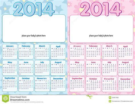 Calendario Bebe Baby Calendar 2014 In Stock Photo Image 35667990