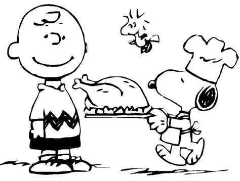 snoopy coloring pages for thanksgiving thanksgiving coloring pages