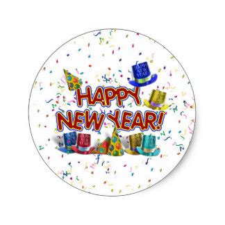 new year stickers happy new years text w hats confetti stickers