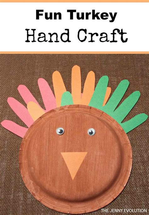 Paper Plate Turkey Craft For - paper plate turkey craft for toddlers