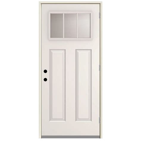 outswing exterior doors steves sons 36 in x 80 in 3 lite left outswing