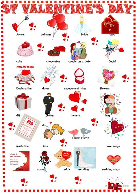 valentines day pictionary s day pictionary worksheet free esl