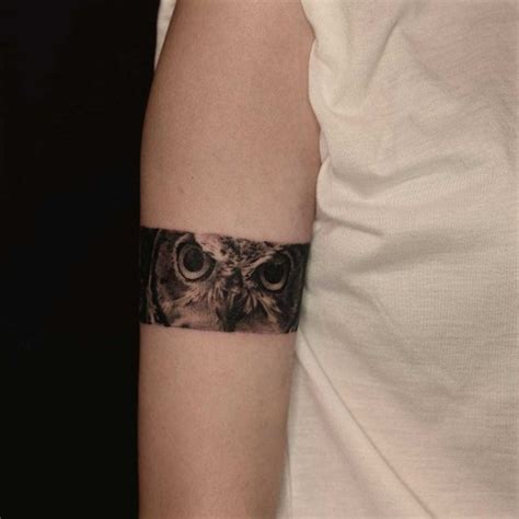 owl eyes tattoo armband best tattoo ideas gallery