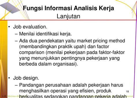 job design adalah ppt analisis dan desain pekerjaan powerpoint