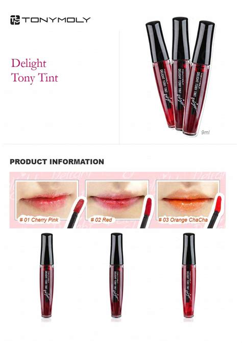 Lipstik Delight Tony Tint review tony moly tony tint delight chica