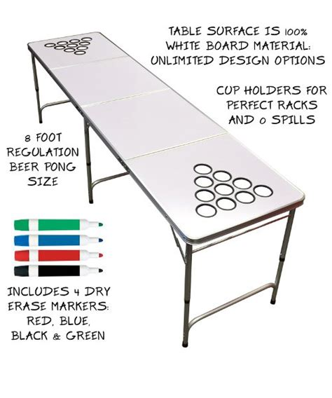 gopong dry erase beer pong table 8 foot long