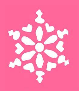 snowflake stencil template cake ideas and designs