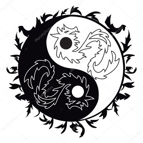 yin yang tattoo with dragons archivo im 225 genes