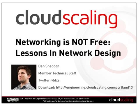 design is not free networking is not free lessons in network design