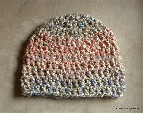 crochet pattern bulky yarn hat swirls and sprinkles adult bulky beanie