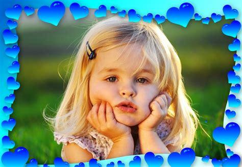 decorar tus fotos online marco con corazones azules para tus fotos marcos para