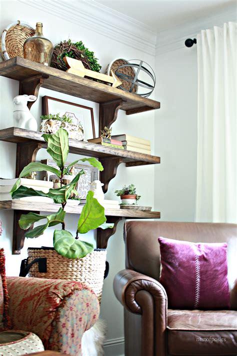 farmhouse blog diy farmhouse shelves in the living room nest of posies