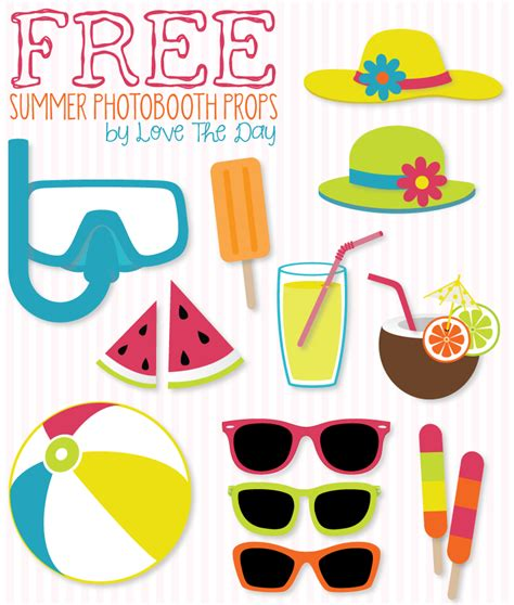 free printable photo booth props pool party free beach party printables diy photobooth summer and