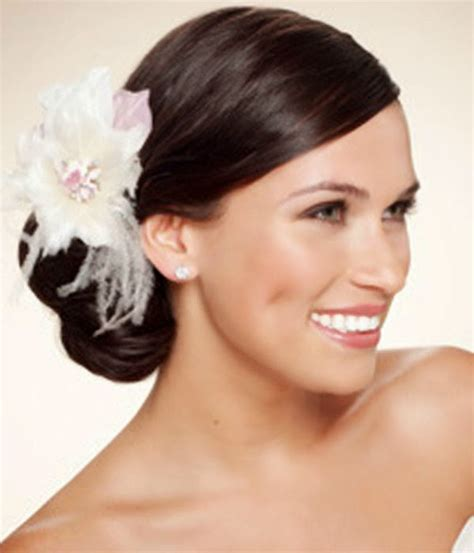 Wedding Hairstyles Bun Updo by Wedding Hairstyles Up With Flowers Http Refreshrose