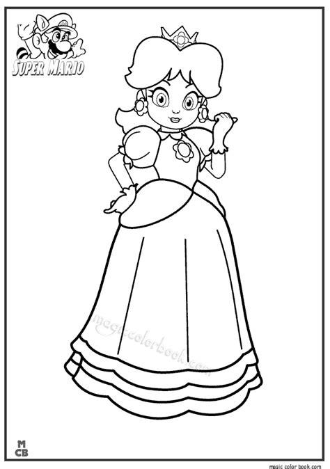 Princess Super Mario Coloring Pages Mario Princess Coloring Pages Printable