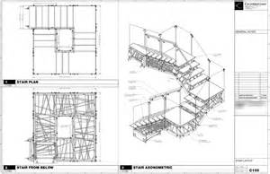 Shop drawing showing overall stair configuration