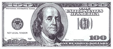 100 Dollar Bill Coloring Page clip 100 dollar bill