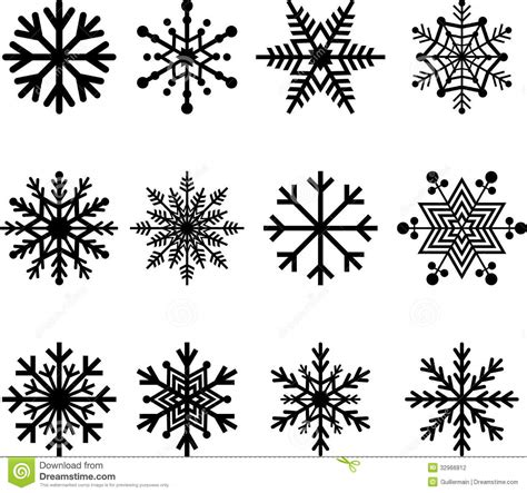 snow flakes stock vector illustration of polygons
