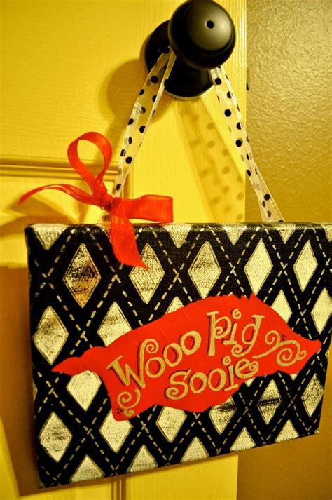 Easy To Make And A Great Gift For Every Razorback Fan
