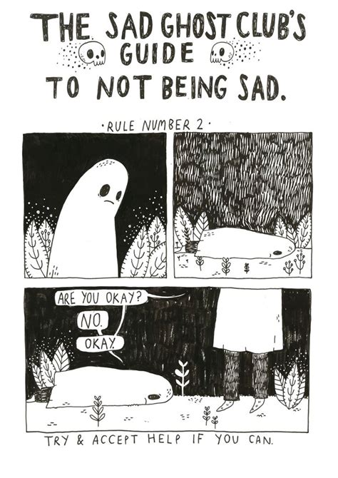 the illustrators guide to the sad ghost club s guide to not being sad brilliance sad