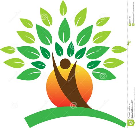 design a logo in sketch tree logo stock image image 33038431