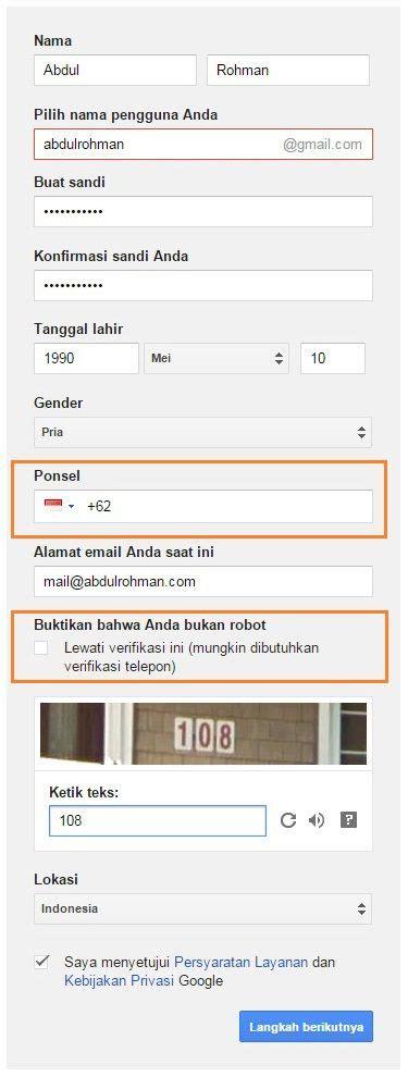 cara membuat email gmail tanpa verifikasi nomor hp 2015 cara membuat email di gmail tanpa verifikasi nomor hp