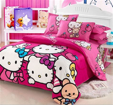 bedcover hellokitty aliexpress buy home textiles bedclothes child