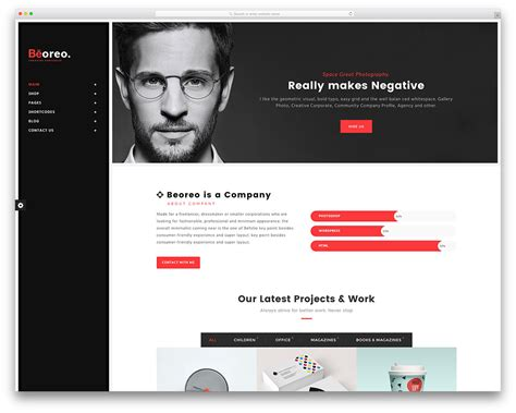 templates for website wordpress 30 best vcard wordpress themes 2018 for your online resume